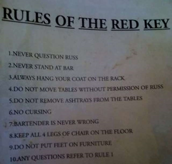 red key rules