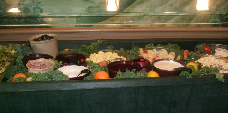 As much of the salad bar that I could fit in.